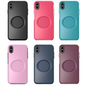 Luxuly 2'si 1 iPhone 11 Pro XR için Tutucu Telefon Kılıfı X / XS MAX 7 8 Artı Hibrid Darbeye Banliyö Vaka Ücretsiz Kargo