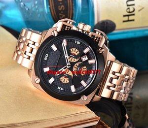 NEW DZ7346 БАМФ нержавеющей steelStrapBlack циферблат Chronogrph мужские часы 7346
