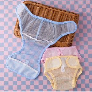 طفل حفاضات شبكة بنات سروال الرضع رقيقة جدا للتنفس قابل للغسل القماش الحفاظات بنين قابل للتعديل حفاضات الأطفال حديثي الولادة القماش الحفاض قابلة لإعادة الاستخدام 060411