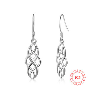 Charm Tasarım Antik Katı 925 Ayar Gümüş Okside Küpe El Işi Kadınlar Takı Dangle Kanca Küpe Gençler için Mücevherat