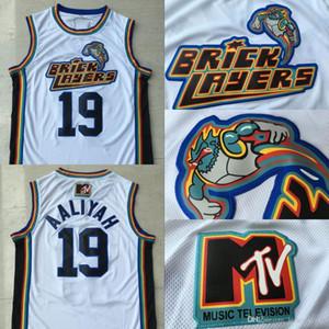 Hombres 19 Aaliyah Albañiles 1996 MTV Rock N Jock Movie Jersey 100% cosidos camisetas de baloncesto S-3XL Envío rápido