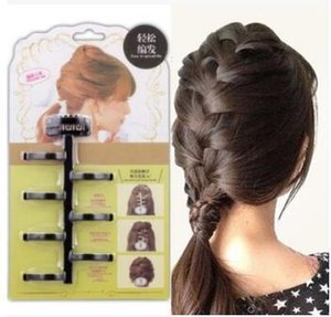 Perfect Three Strand Diy Lazy Wavy Braid Centipede Hemp Flores Braid Cuidado del cabello Herramientas de peinado Accesorios para el cabello Ha037 SH190727