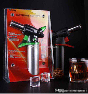 1pcs Big Metal Spray Gun Jet Flame Torchs Cigarette Cigar Torch Windproof Refillable Welding Butane Torch Heavy Duty Butane Gas Torch 1300C