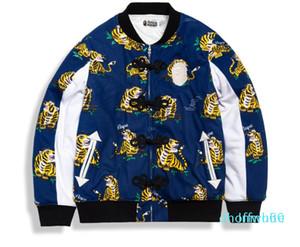 Mens Women Sportwear Cat Runger Trackger BASEBALL Fleece Sweet Crewneck Tiger Hip Hop Hoodie Men Shark Mouth Jacket