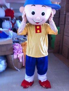 2020 Costumi di Halloween del costume della mascotte di Caillou superiore del fumetto Caillou Boy Anime carattere tema natalizio Carnival Party