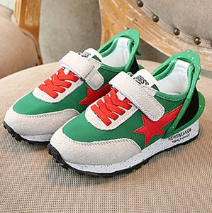 Children's leather sports shoes spring and autumn 2020 new boys casual shoes non-slip wear-resistant girls running shoes