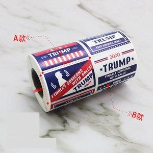 Trump Yüz Çıkartma Başkanı Donald Trump Yüz Patch 500pcs / silindir Keep Amerika Büyük Tampon etiketi Giyim Dekoratif Sticker LJJO7655