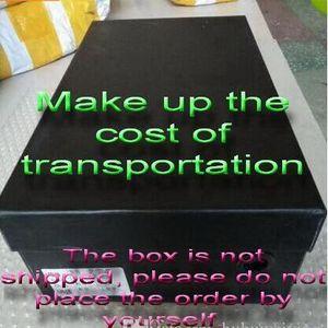 Cajas y accesorios de empaque de zapatos usados para complementar los costos de transporte y la cantidad de mercancía.