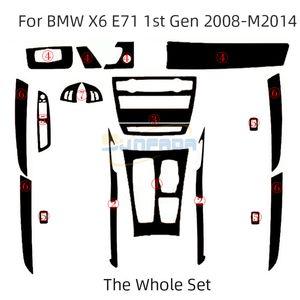 Pegatinas de vinilo de fibra de carbono 4D 5D 5D para BMW X5 E70 08-13 x6 E71 08-14 Coche Decoración de interiores / actualización / protección