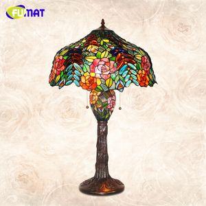 Estudio Manchado de vitrales Rose Fumat Creative Glass Mesa de mesa Lámpara de mesa de noche lámpara lámpara luces barra soporte mesa vida sjwwd