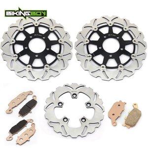 Frein arrière Disques avant BIKINGBOY Rotors Disques + Pads pour SV650S SV 650 S 03 04 05 06 07 08 09 10 SV 650 2003-2010