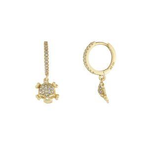 CZ skull encanto brinco de argola de cor ouro faíscas claro cúbicos de zircônia brincos charme pequena bonito do crânio