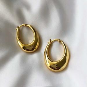 Europe et Amérique de la mode boucles d'oreilles plaqué or jaune Hoop boucles d'oreilles pour les filles des femmes pour le mariage mariage joli cadeau pour un ami