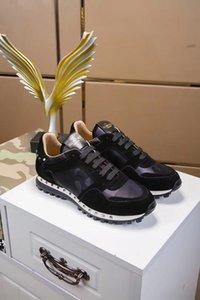 2020 Moda Erkek Ayakkabısı Dantel Up Mesh Nefes Kamuflaj Eğitmenler Gündelik Ayakkabı Erkek Bahar Yaz Ayakkabı Valentino Erkek Kadın 35-45