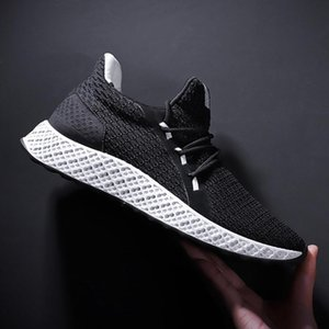 19 explosion models men&#039s shoes fashion casual flying woven breathable running shoes students Korean wear-resistant