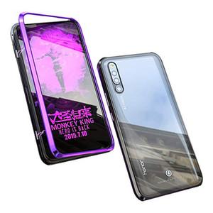 Caso magnetico di lusso per Huawei P20 P30 P40 Lite Pro Double Side vetro temperato a 360 ° adsorbimento antiurto coperchio metallico Fundas Phone
