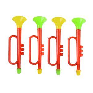 4 pcs Cheer Plástico Chifre Fãs Jogo de Futebol Cheerleading Adereços Vuvuzela Kid Trumpet