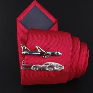 i-Remiel novo avião Copper Tie Metal Prata Clip for do Masculino Gravatas shirt Collar Pinos Vestuário Acessórios Variedade de opções