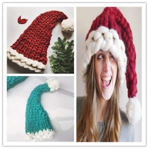 Wool Knit Hats Christmas Hat Fashion Home Outdoor Autumn Winter Warm Hat Xmas gift party favor indoor tree decor R0683