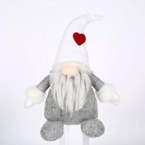 Sıcak Santa Gnome Peluş El yapımı İskandinav Tomte Nordic Nisse Sockerbit Elf Cüce Ev Ev Süsler Noel Sant