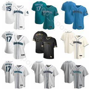 2020 Baseball 24 Ken Griffey Jr. Jersey 11 Edgar Martinez 51 Suzuki Ichiro 51 Randy Johnson Felix Hernandez Custom Name Anzahl Herren Kinder