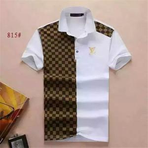 Sommer 18SS Designer-Tag Schlangedruck Kleidung Männer Kragen g T-Shirt Stoff Brief Polo beiläufige Frauen Tshirt T-Shirt-Oberseiten 815