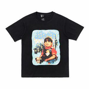 20ss Seduto bambino Stelle blu stampato Tee Uomini Donne Estate semplice Highstreet T-shirt Skateboard Hip Hop manica corta traspirante HFHLTX154