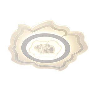 OOVO LED Acrílico Rose lâmpada do teto Luminárias Moda Quarto Estudo Quarto Princess Room luz de teto 24W 42 centímetros