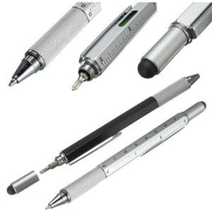 7 colori romanzo multifunzionale cacciavite penna a sfera multi funzione penne touch screen metallo regalo scuola ufficio supplie cancelleria penna