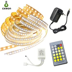 Flexible LED Strip 5050 Waterproof DC12V 60LEDs M Dual White LED Strip Light Kit with 24keys Controller 12V 3A Adapter