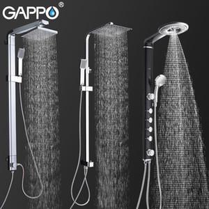 Gappo Banyo Duş Musluklar Banyo Duş Sistemi Duvar Musluk Mikser Yağmur Duş Seti Şelale ABS Paneli Masaj T200612 Monteli