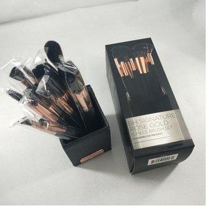 Brand Makeup Brush Signature Rose Gold 13pcs set Brush Set For Face Eye Lip Powder Foundation Eyeshadow Cosmetics with holder.