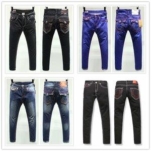 Erkek Düz DOĞRU Jeans Uzun Pantolon Pantolon Erkek Gerçek Kaba Hat Din Kot Elbise Man Casual Kalem Pantolon Mavi Siyah Kot Pantolon