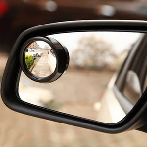 1pc Mini Rearview Mirror Car Rear View Mirror Small Round Large Vision Reverse Assist Blind Spot 360 Rotary Car Accessory