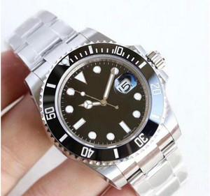 di lusso mens U1 fabbrica da polso orologi zaffiro ceramica nera 40 millimetri lunetta in acciaio inox 116610LN 116610 Uomo Automatico Meccanico Watch