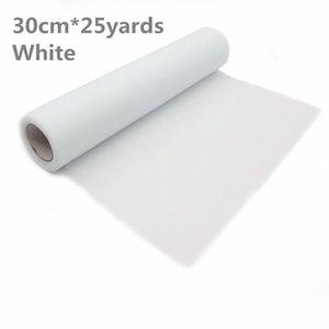 Bianco Tulle Roll Spool Tutu 30cm 25 yards Gonna da tavolo fai da te compleanno decorazione della festa nuziale Tulle Organza rotolo forniture festive