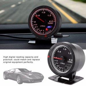 Freeshipping Evrensel Araba Boost Ölçer 60mm LED Turbo Boost Metre Ölçer Siyah Kabuk Için Oto Yarış Araba 0-200 Kpa Araba-Styling