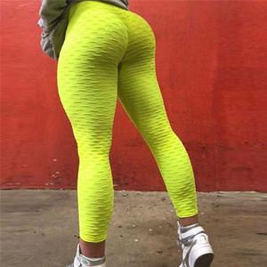 Femmes Push Up Leggings taille haute Fitness Legging Activewear Workout Leggings Vêtements de sport Vêtements pour femmes solides Respirant