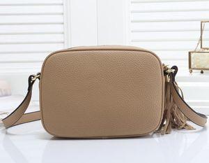 Borsa Donne Moda Tracolla nappa SOHO Disco sacchetti delle signore della nappa Litchi Profilo Donne Messenger Bag