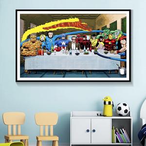 SUPERHEROS الأعجوبة دي سي كوميكس الفيلم الساخن جدارها الفن الحديث ديكور المنزل قماش اللوحة جدار صور لغرفة الجلوس 191002