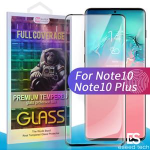 Per Samsung Galaxy Note 10 vetro temperato IN STOCK Case Friendly Fingerprint sbloccare 3D Curve Edge Screen Protector per s10 s9 s8 plus