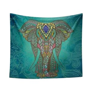 Wall Tapestry Elephant Printed Bedspread Bedroom Living Room Home Decoration Ethnic Style Fashion Art Gift Hanging Corridor