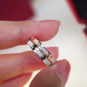 2020 au début du printemps nouvelle bague en diamant plein de vis en argent plaqué or S925 or blanc rose femmes mode or accessoires bague couple
