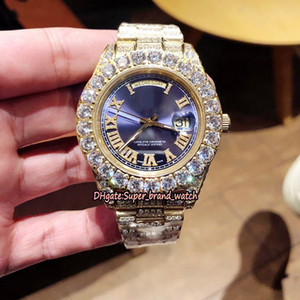Лучший вариант 228349RBR m118388 Алмазный циферблат автоматические механические 228348RBR Мужские часы Сапфир Алмазный Стальной корпус класса люкс Дизайнерские часы