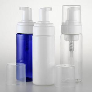 السفر رغوي موس زجاجات جرة الحاويات 100ML 150ML البلاستيك إفراغ مع مضخة يدوية غسل الصابون محتدما رغوة زجاجة LLY