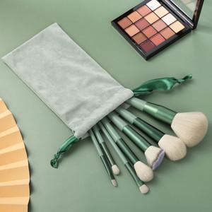 Makeup Brushes 13pcs set Professional green Brush Set Makeup Foundation Powder Beauty Tools Cosmetic Brush Kits free DHL