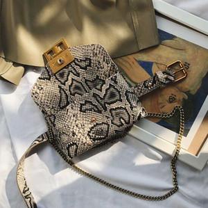 فاخر مصمم الخصر حقيبة المرأة سلسلة حقائب كلاسيكية حقائب الكتف الرجعية المحمولة حقائب أفعواني Crosscody
