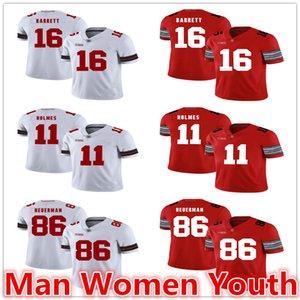تخصيص NCAA ولاية أوهايو بوكس كرة القدم بالقميص جيه تي باريت 16 هولمز 11 جيف هورمان 86 جيرسي أي عدد اسم S-5XL