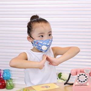 WholesaleMask Kinder Insert Maske mit Baumwolle Atemventil PM2.5 Anti-Schleier Aktivkohle Schutz Cartoon-Maske