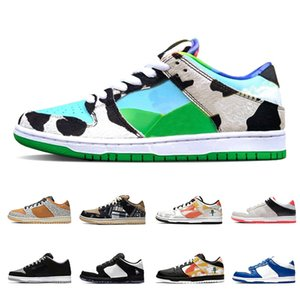 Nike SB DUNK Stock X Chunky Dunky Ben Jerrys Dunk Low Mens Designer sneakers Travis Scott Safari Raygun Tie-Dye Panda Pigeo women Athletic casual shoes